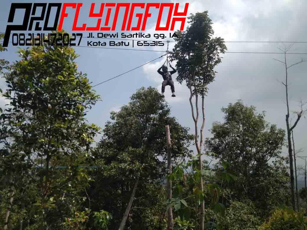 082131472027, Pembuatan Wahana Outbound Jawa Timur, Pembuatan Wahana Outbound Kediri, Flyingfox di Bukit Gandrung Medowo Kandangan Kab. Kediri (1)