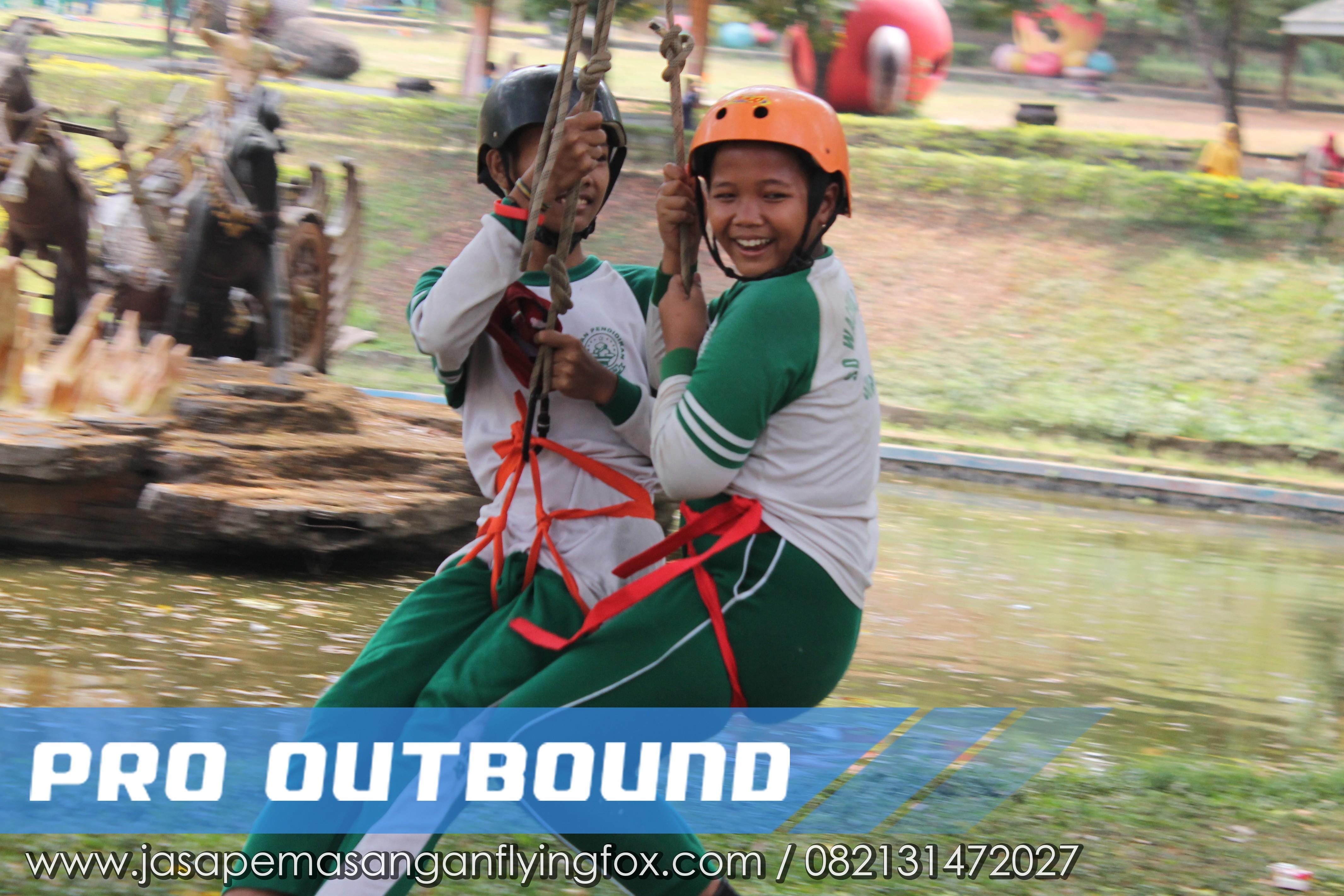 Melawan Rasa Takut Melalui Kegiatan Highrope - Flyingfox Untuk Anak Kalimantan, 082131472027 (2)