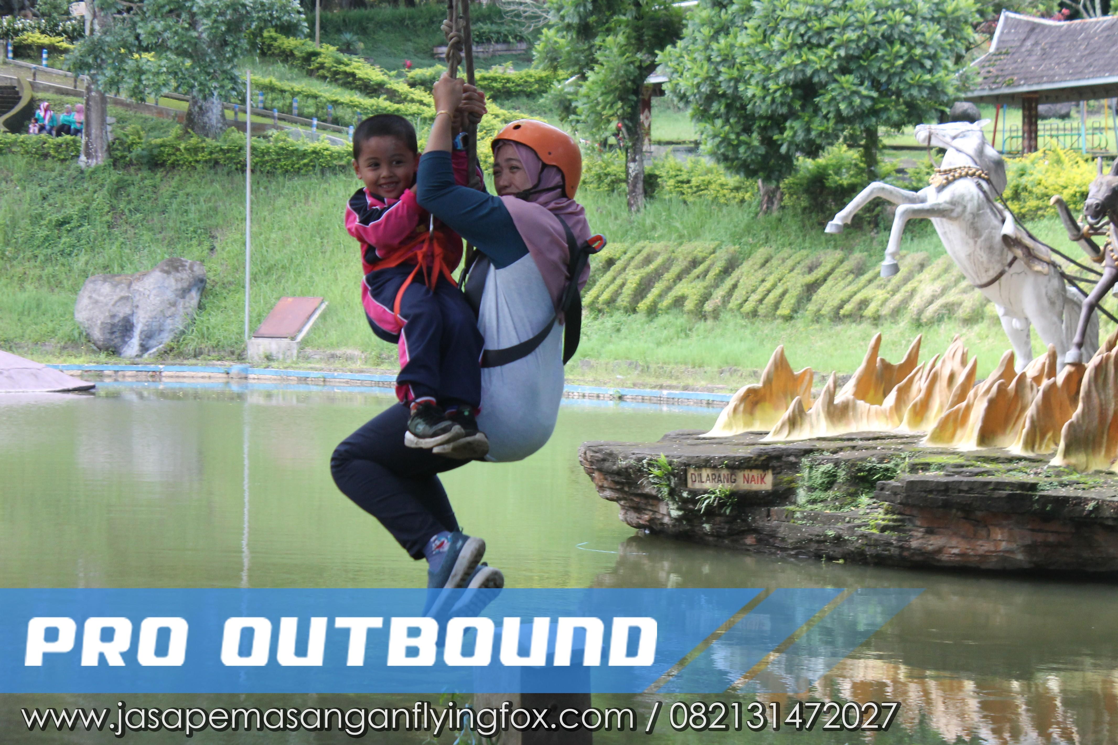 Melawan Rasa Takut Melalui Kegiatan Highrope - Flyingfox Untuk Anak Kalimantan, 082131472027 (4)
