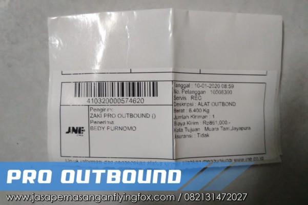 Pengiriman Alat Outbound Kepada Letkol INF di Papua, Jual Peralatan Flying Fox Kalimantan - 082131472027 (3)