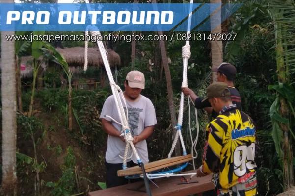Wahana Ayunan Highrope Sky Swing, Pemasangan Wahana Outbound, 082131472027 (3)