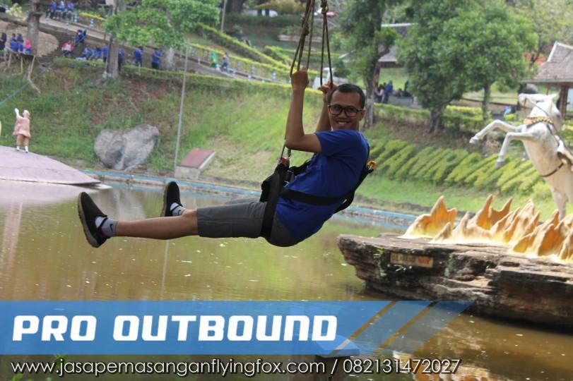 Wahana yang Ada di Lokasi Wisata Outbound, Flying Fox Outbound Bekasi - 082131472027 (2)
