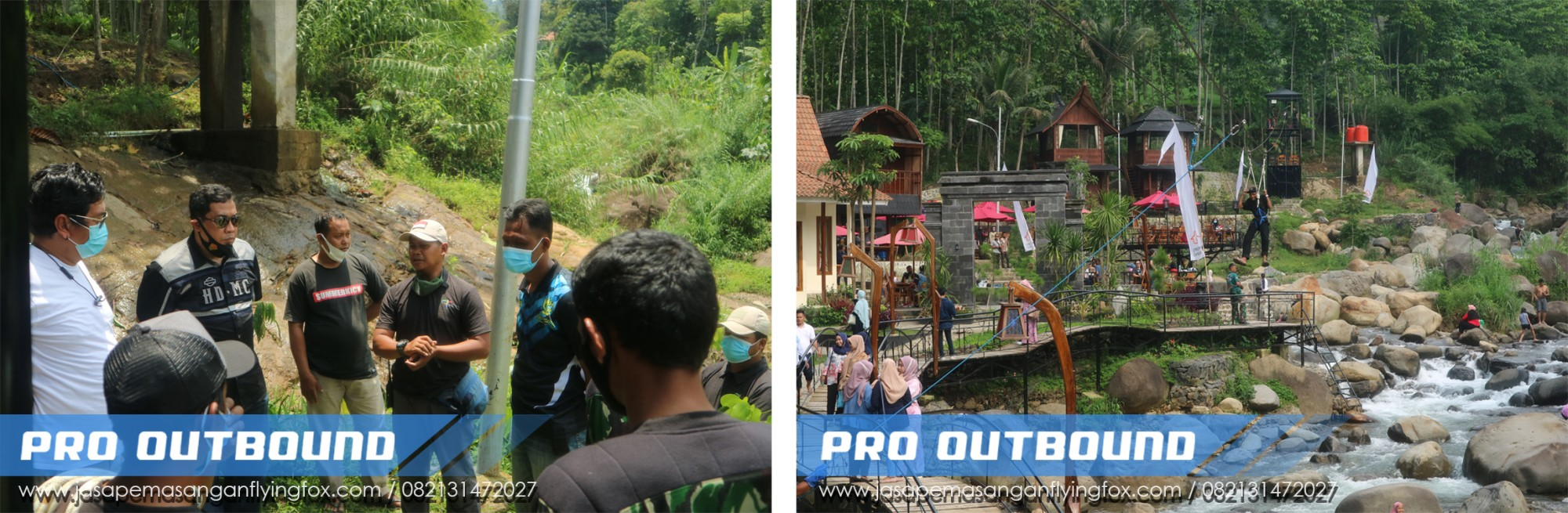 Pemasangan Wahana Flyingfox di Lokasi Wisata Pendopo Ciherang Bogor, Jasa Pembuatan Flying Fox Jawa Barat - 082131472027 (2)