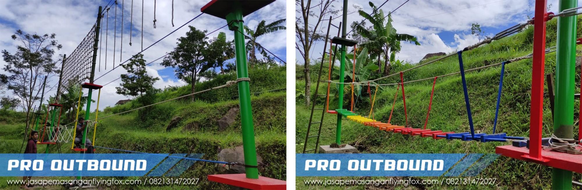 Penyedia Highrope Games Untuk Anak Anak di Kota Wisata Batu, Pembuatan Wahana Outbound Batu - 082131472027 (2)