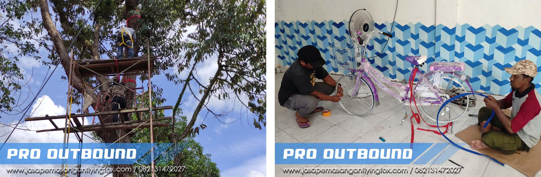 Pemasangan Flyingfox di Pondok Pesantren Kalimantan Selatan, Jual Perlengkapan Flying Fox Jawa Timur - 082131472027 (1)