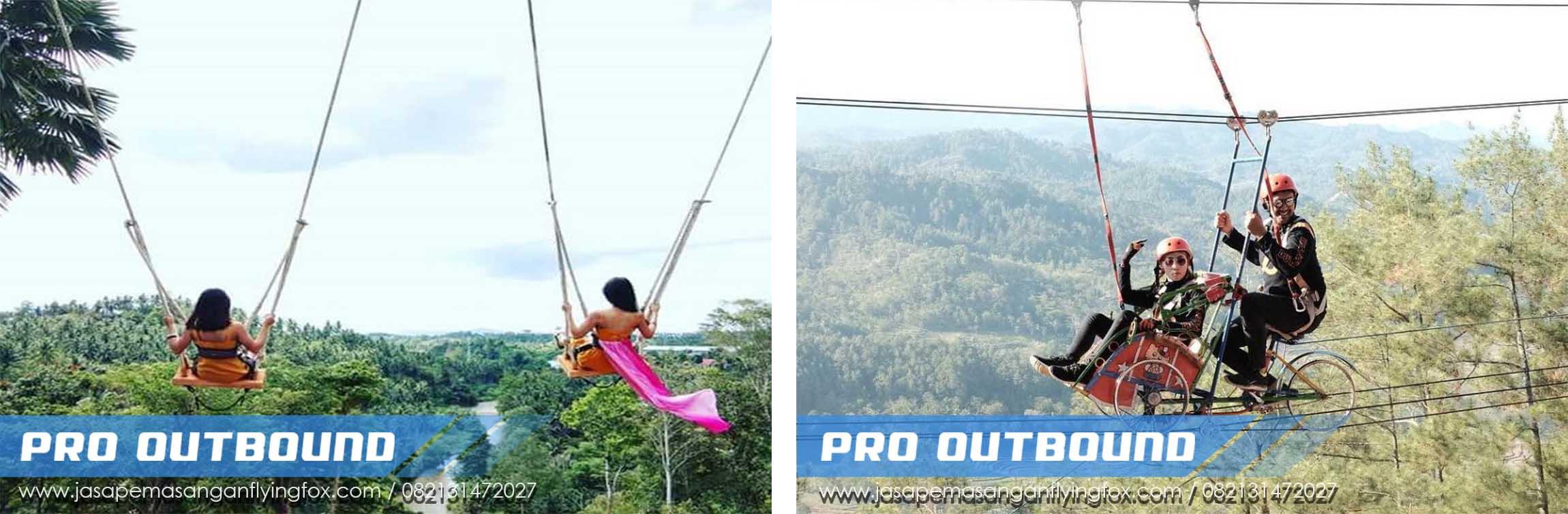 4 Wahana Outbound yang Wajib Untuk di Coba, Flying Fox Outbound Jawa Timur - 082131472027 (2)